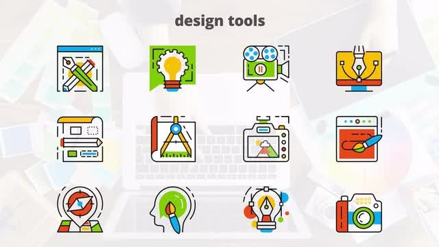 Design Tools - Flat Animated Icons: After Effects Templates