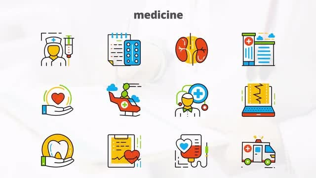 Medicine - Flat Animated Icons: After Effects Templates