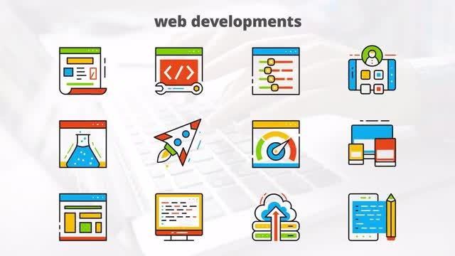 Web Development - Flat Animated Icons: After Effects Templates