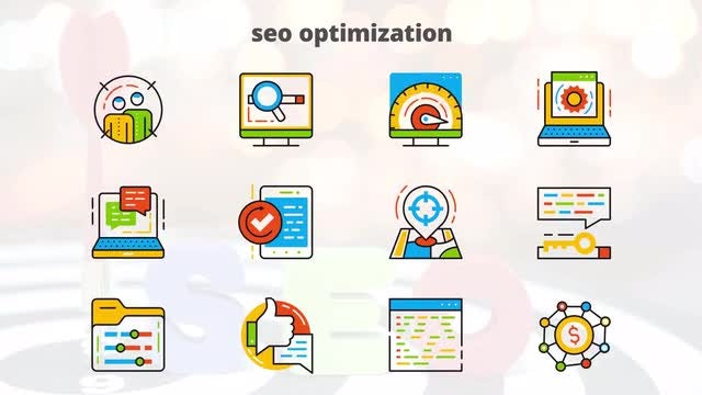 SEO Optimization - Flat Animated Icons: After Effects Templates