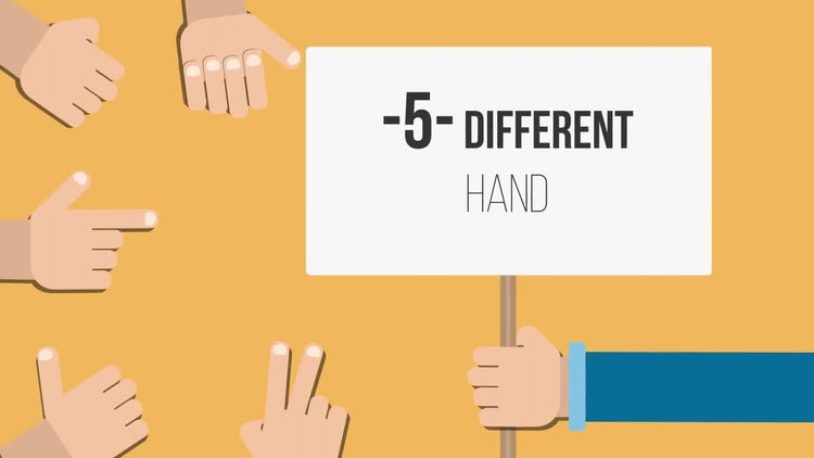 Hands Explainer: After Effects Templates
