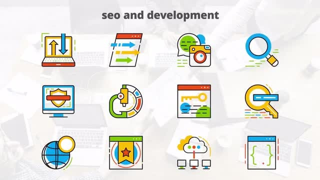 SEO & Development - Flat Animated: After Effects Templates