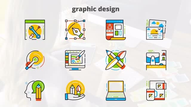 Graphic Design - Flat Animated Icons: After Effects Templates
