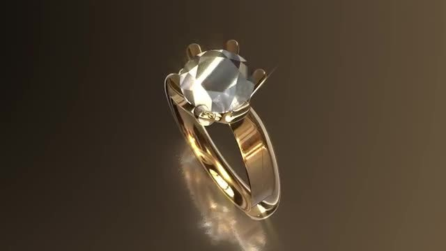 Diamond Ring Loop: Stock Motion Graphics