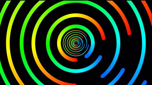Multi-Colored Circles: Stock Motion Graphics