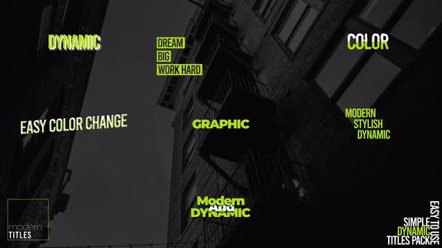 Dynamic Titles Pack V5: Motion Graphics Templates