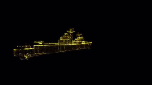 Naval Ship Hologram: Stock Motion Graphics