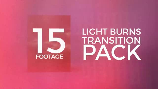 Light Burns Transition Pack: Stock Motion Graphics