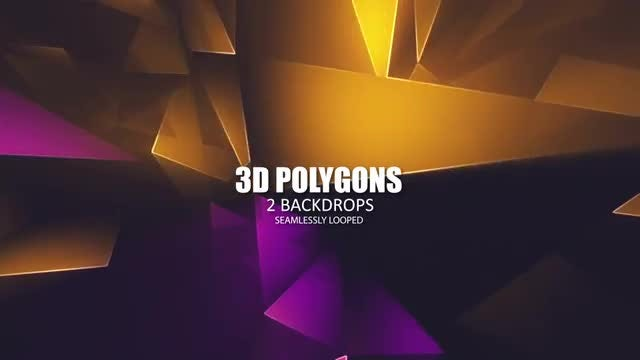 3D Polygons: Stock Motion Graphics
