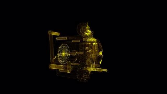 Engine Hologram: Stock Motion Graphics
