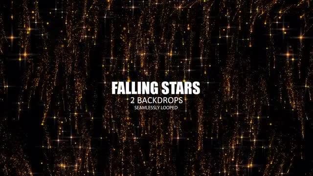 Falling Stars: Stock Motion Graphics