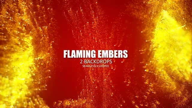 Flaming Embers: Stock Motion Graphics