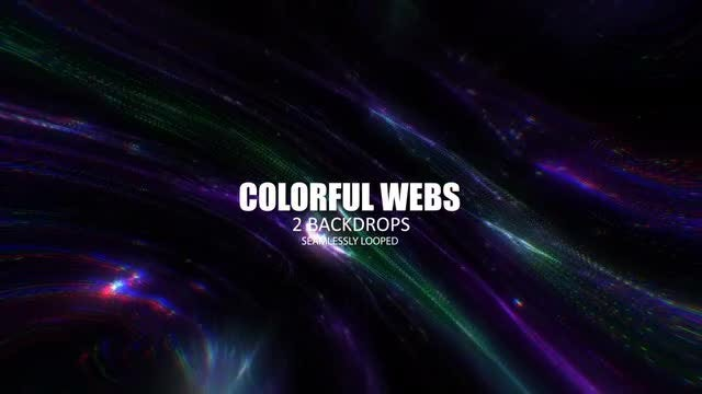 Colorful Webs: Stock Motion Graphics