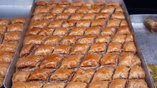 Baklava Dessert: Stock Video