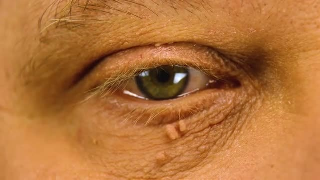 Emotional Male Eye: Stock Video