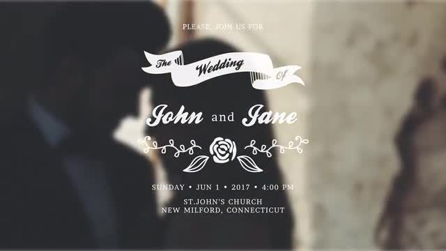 Wedding Invitations: After Effects Templates