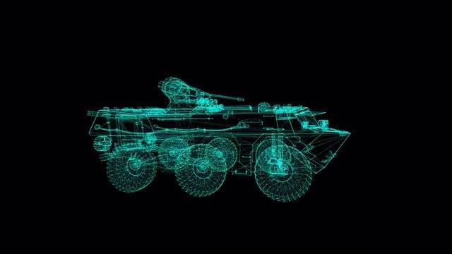 Military Tank  Hologram: Stock Motion Graphics