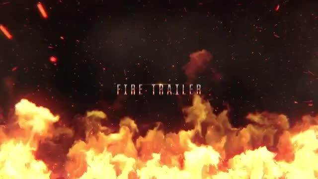 Ultimate Fire Trailer: After Effects Templates