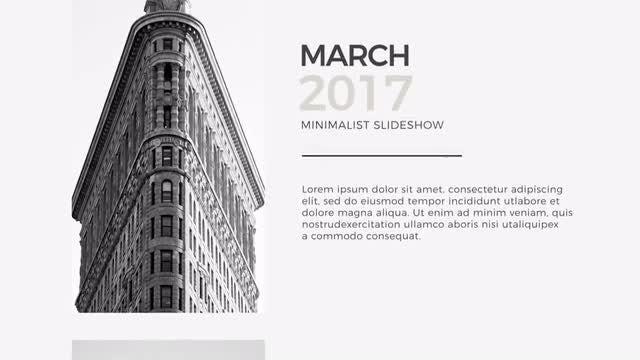 Minimal Slideshow: Premiere Pro Templates