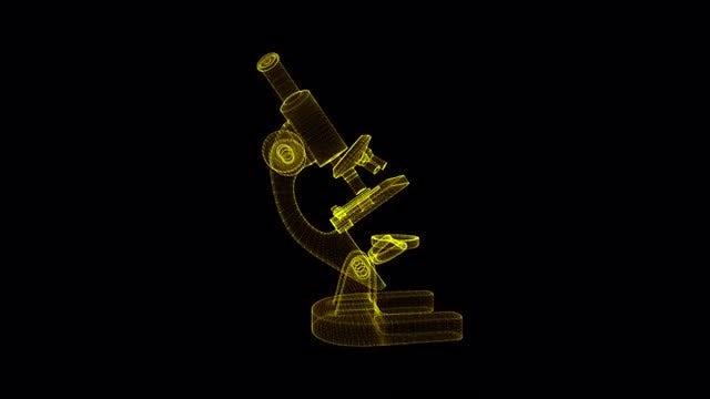 Microscope Hologram: Stock Motion Graphics