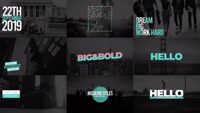 Modern Titles Pack VIIII: Motion Graphics Templates