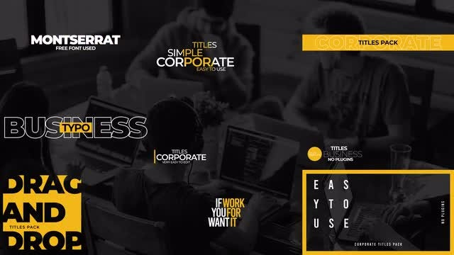 Corporate Titles Pack V8: After Effects Templates