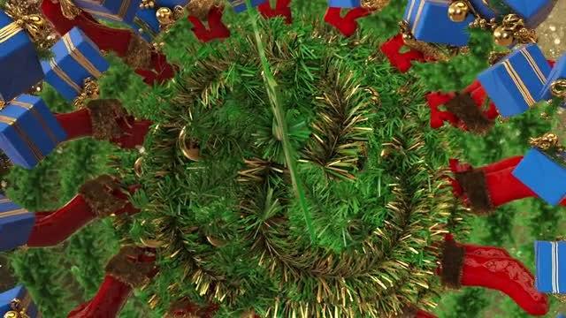 Christmas Mandala Background: Stock Motion Graphics