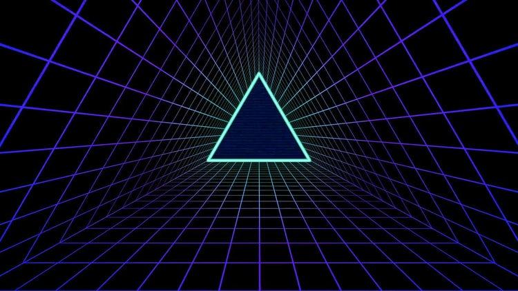 80's Futuristic Background: Stock Motion Graphics
