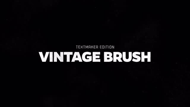 Titles Animator - Vintage Brush: After Effects Templates