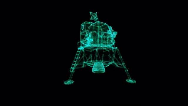 Lunar Module Hologram: Stock Motion Graphics