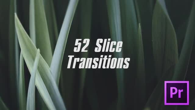 Slice Transitions: Premiere Pro Templates