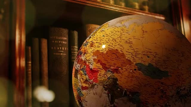 Spinning Library Globe: Stock Video