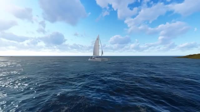 Sea And Boat: Stock Motion Graphics