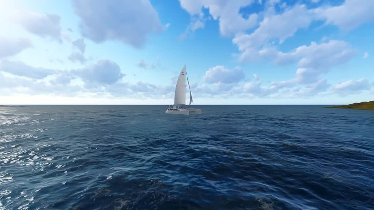 Sea And Boat: Motion Graphics