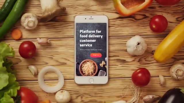 Food App Logo Reveal: After Effects Templates