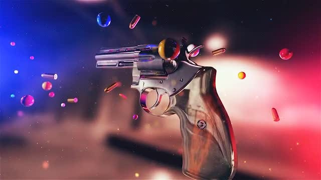 Gun And Bullets Background: Stock Motion Graphics