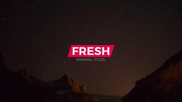 12 Fresh Titles: Premiere Pro Templates