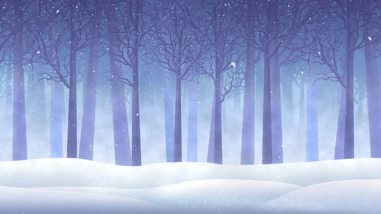 Snowfall In The Forest: Stock Motion Graphics