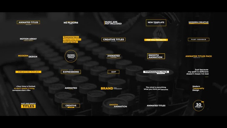 30 Animated Titles: After Effects Templates