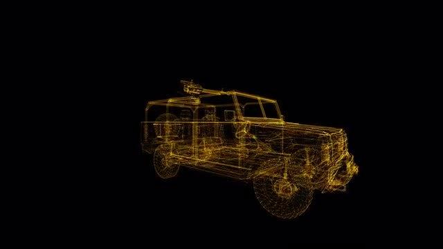 Combat SUV Hologram: Stock Motion Graphics