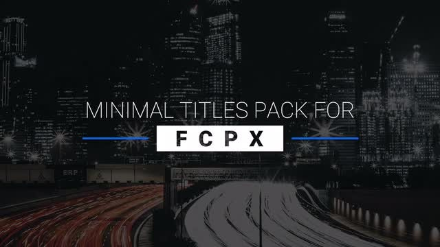 9 Minimal Titles Pack For FCPX: Final Cut Pro Templates