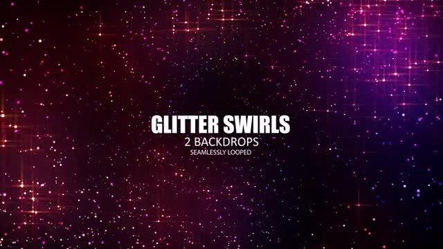 Glitter Swirls: Stock Motion Graphics
