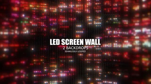 LED Screen Wall: Stock Motion Graphics