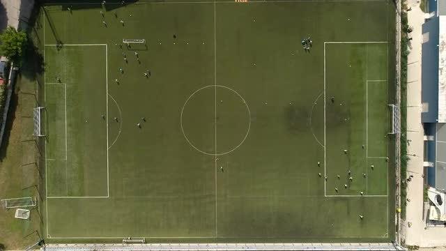 Grbavica Sarajevo Soccer Field: Stock Video