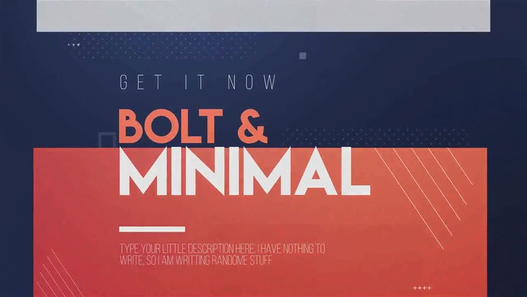 Bolt & Minimal: After Effects Templates