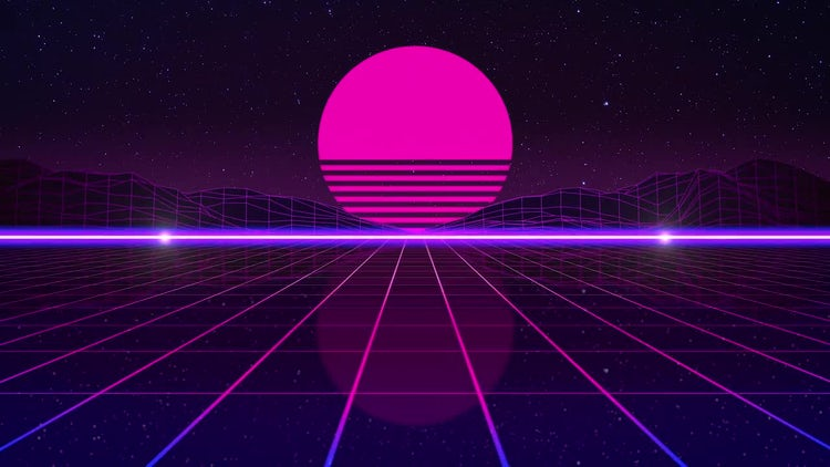 80's Retro Futuristic Background: Stock Motion Graphics