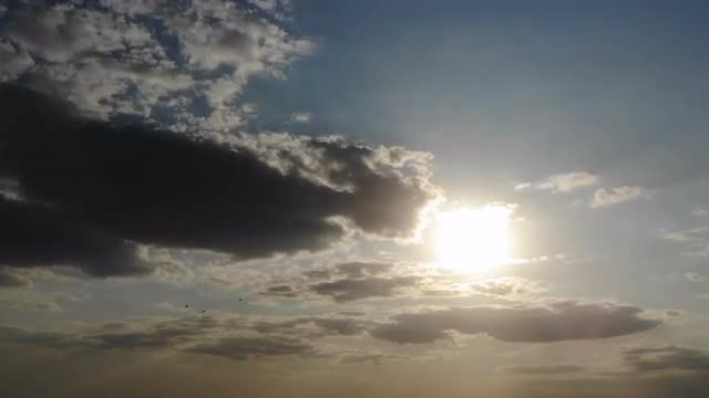 Dark Clouds Over Bright Sun: Stock Video