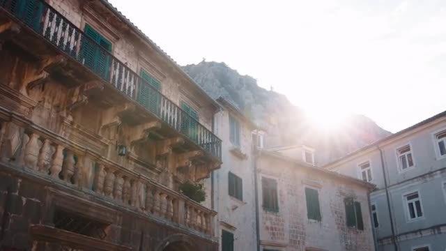 Dawn Over Kotor, Montenegro: Stock Video