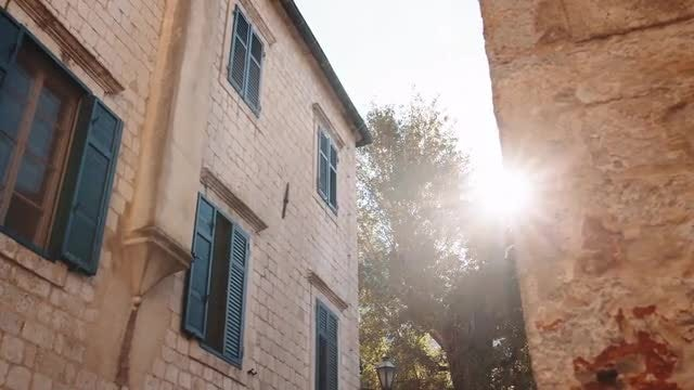 Sunny Morning Old Town: Stock Video