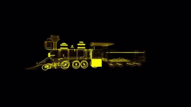 Locomotive Hologram: Stock Motion Graphics